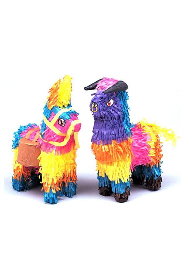 Mini Bull and Donkey Piñatas: 2 Pack