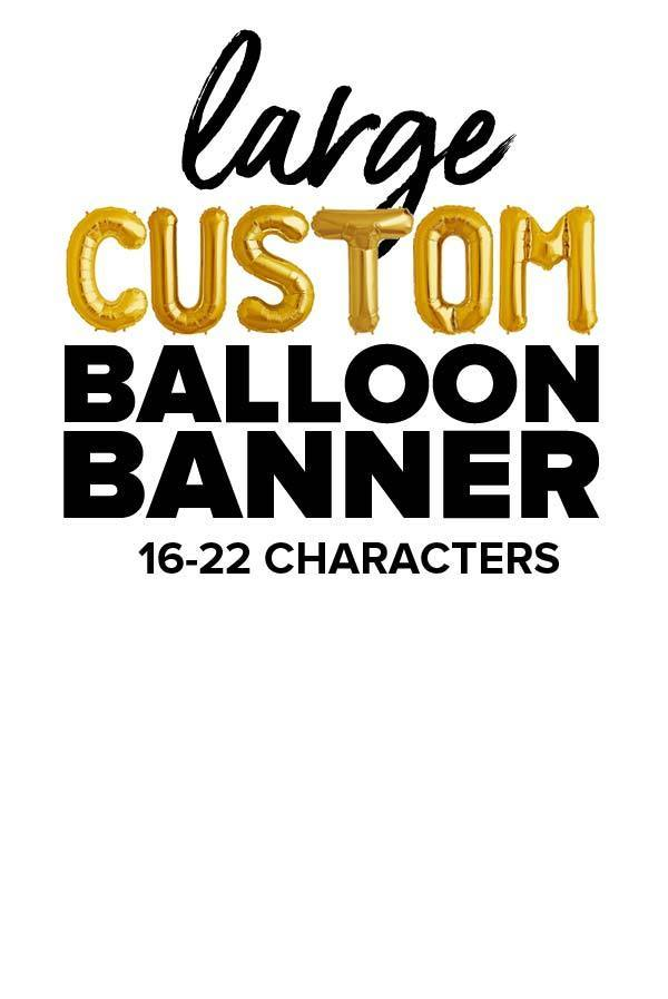 "Gold 16"" Balloon Banner 