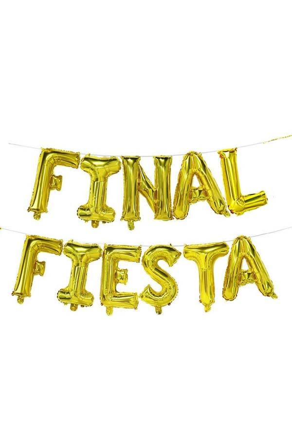 "Gold 16"" Final Fiesta Balloon Banner"