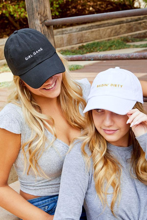Bridin' Dirty | Girl Gang - Bachelorette party dad hats