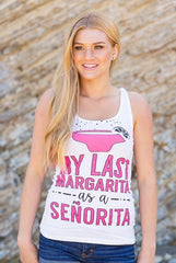 "Adorable ""Last Margarita as a Senorita"" and ""Drinking Margaritas with my Senoritas"" mexico bachelorette party shirts! SO CUTE and perfect for a bachelorette party in Mexico!"