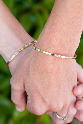 Engraved Bracelets | Bride and Maid of Honor