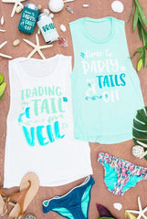 Trading My Tail for a Veil Mermaid Muscle Tanks