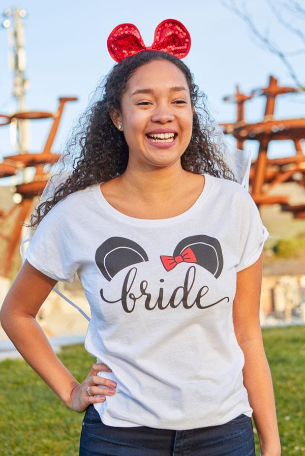 Cute Mouse Bachelorette Party Tees or Tanks - Bride | Mouse of Honor | Bride's Mouse