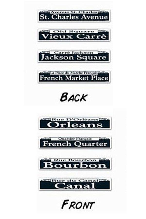 Large Mardi Gras Street Signs