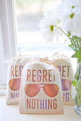 Regret Nothing! Rose Gold Hangover Relief Gift Bags