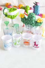 Reusable Fiesta Party Cups: set of 20