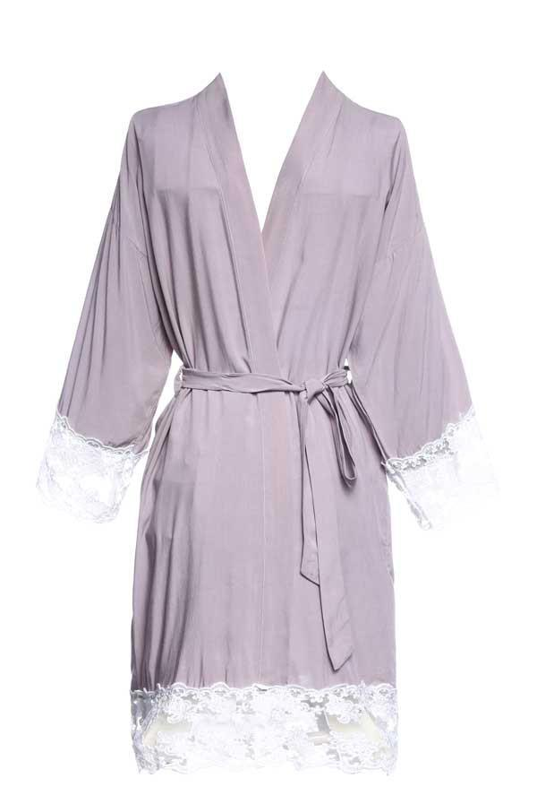 Lace Trim Party Robes | Lots of colors!