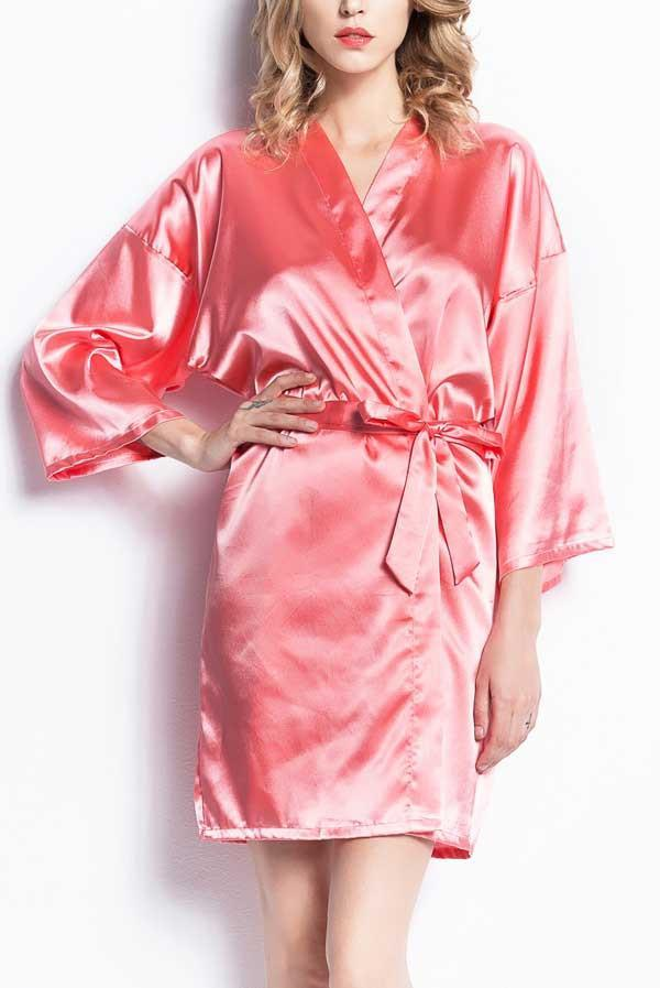 Satin Party Robes | Floral and Solid - Lots of colors!
