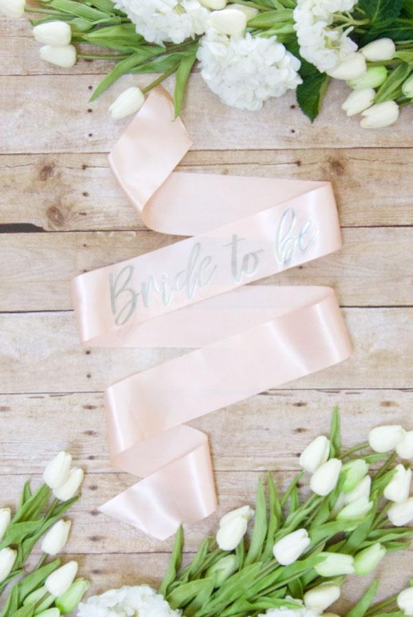 Bride To Be Silver Foil Sash | Lots of colors!