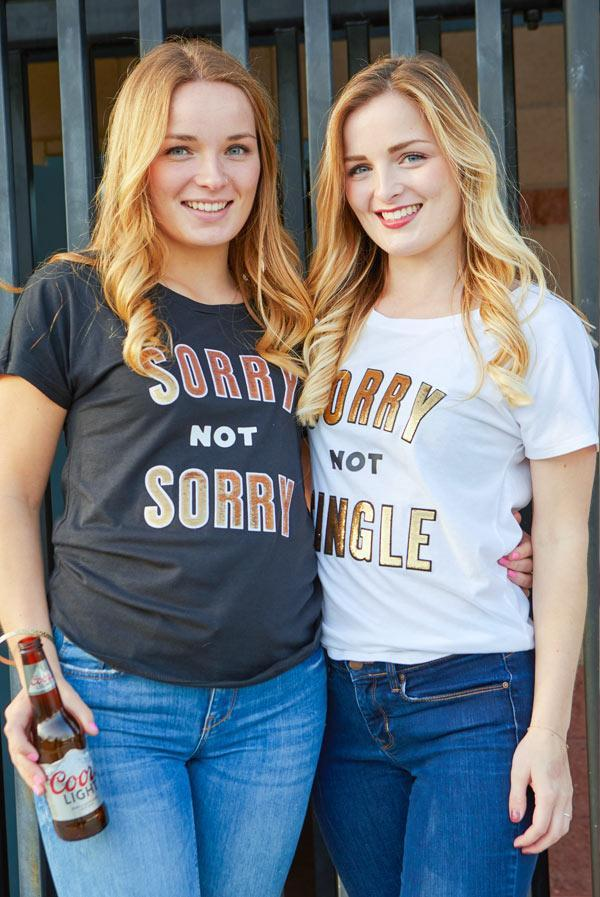 Sorry guys - She's Not Single! Sequin Appliqué Sorry Not Sorry | Sorry Not Single Tees
