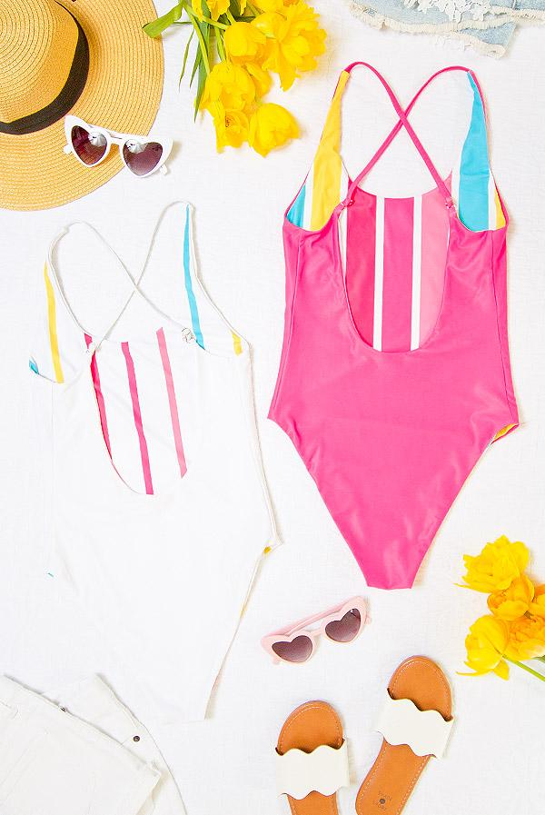 Reversible Bride and Babe Swimsuits!