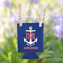 Tank her nautical bachelorette party koozie