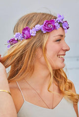 🌺Tropical Purple Peony Flower Crowns - Full flowers!