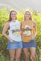 Country Bachelorette Muscle Tanks - Yee Haw Bitches | I'm Gettin' Married Y'All