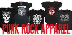 Punk rock band clothes for babies