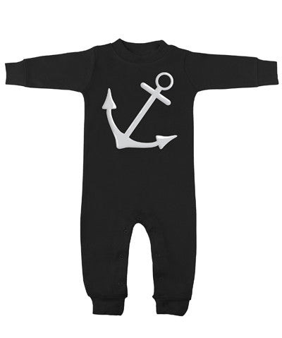 Anchor Black & White Long Sleeve Romper