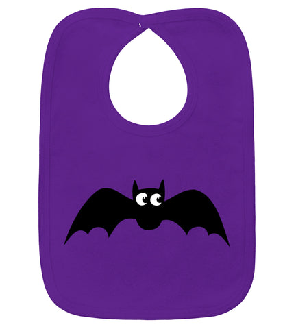 Baby Bat Purple Bib