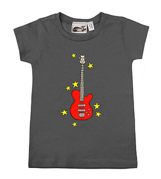 Bass Guitar Charcoal Gray T-shirt