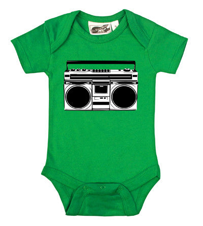 Boombox Kelly Green, Black & White One Piece