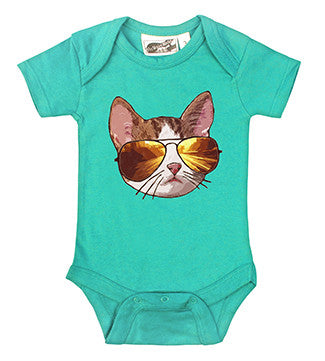 Cool Cat Aqua One Piece