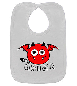Cute Lil Devil White Bib