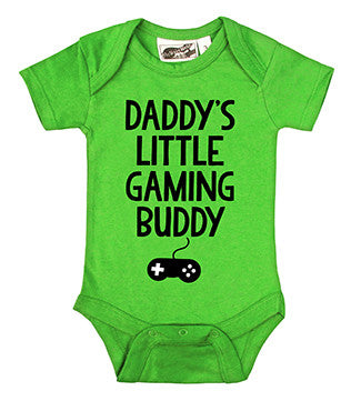 Daddy's Little Gaming Buddy Lime Green One Piece