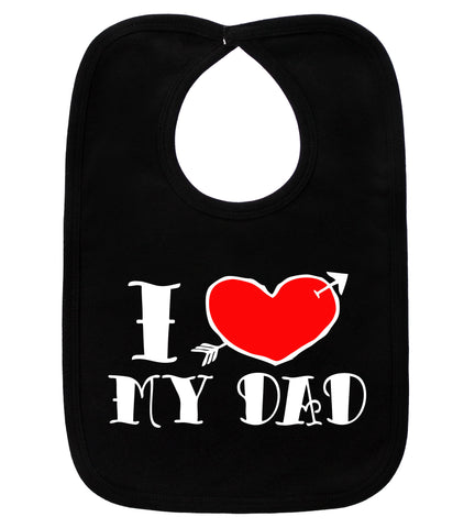 I Love My Dad Tattoo Black Bib
