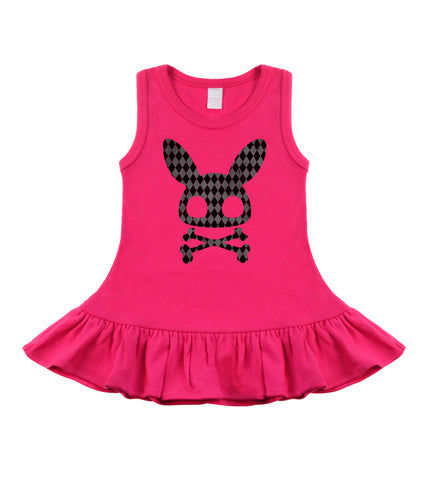 Diamond Bunny Hot Pink Sleeveless Dress