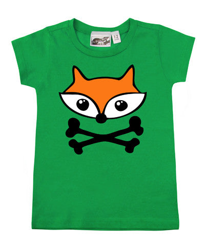Fox Crossbones Green T-shirt