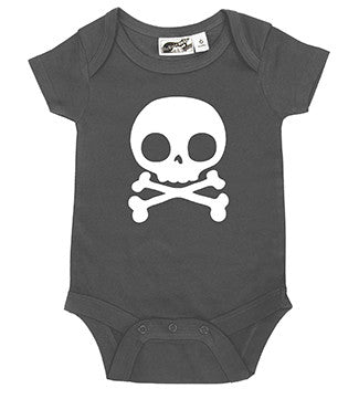 Skull Charcoal Gray & White One Piece