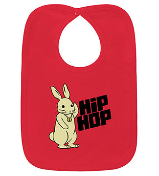 Hip Hop Bunny Red Bib