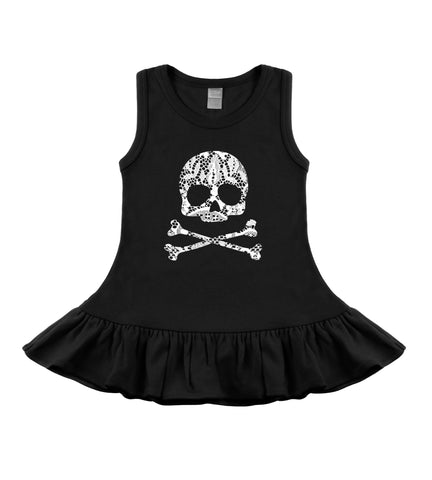 Gothic lace skull toddler baby dress