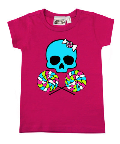 Lollipop Skull Hot Pink T-shirt