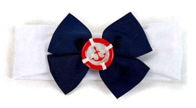 Anchor Red, White & Blue Headband