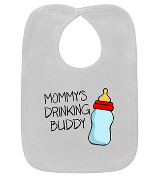 Mommy's Drinking Buddy White Bib