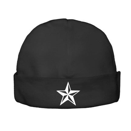 Nautical Star Black Beanie