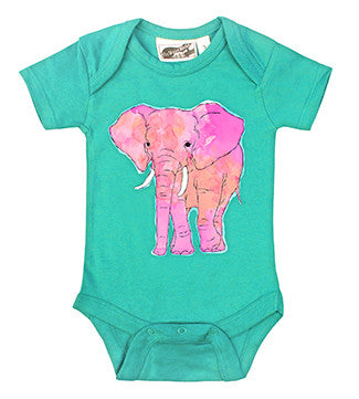 Pink Elephant Aqua One Piece