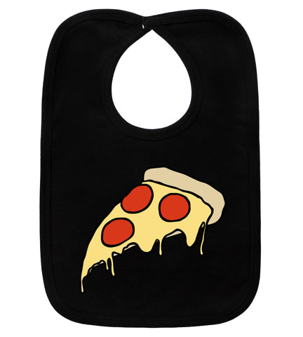 Pizza Party Black Bib