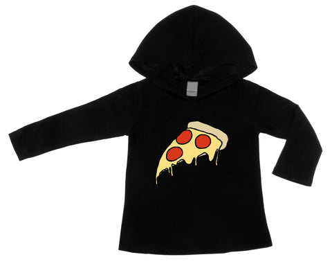 Pizza Party Black Lightweight Pullover Hoodie