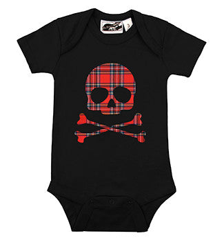 Plaid Skull Black One Piece