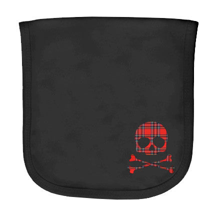 Plaid Skull Burp Cloth