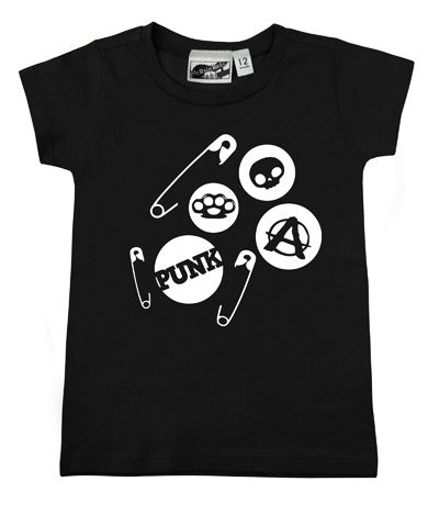 Punk Pins Black T-shirt