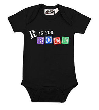 R is for Rock Black One Piece