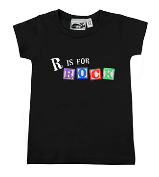 R Is For Rock Alphabet Blocks Black T-Shirt