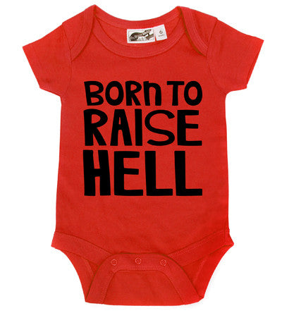 Born To Raise Hell Red One Piece