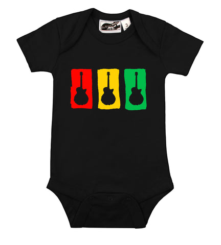 Rasta Guitar Black One Piece