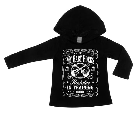 Rockstar In Training Black Lightweight Pullover Hoodie