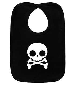 Skull Black & White Bib