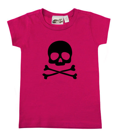 Skull & Crossbones Hot Pink & Black T-shirt